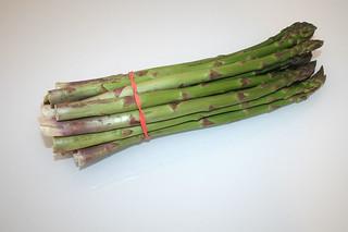 01 - Zutat Grüner Spargel / Ingredient green asparagus