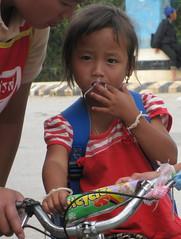 Xieng Khoung girl on bike