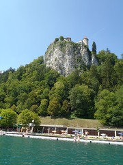 Bled Castle from lake Bled