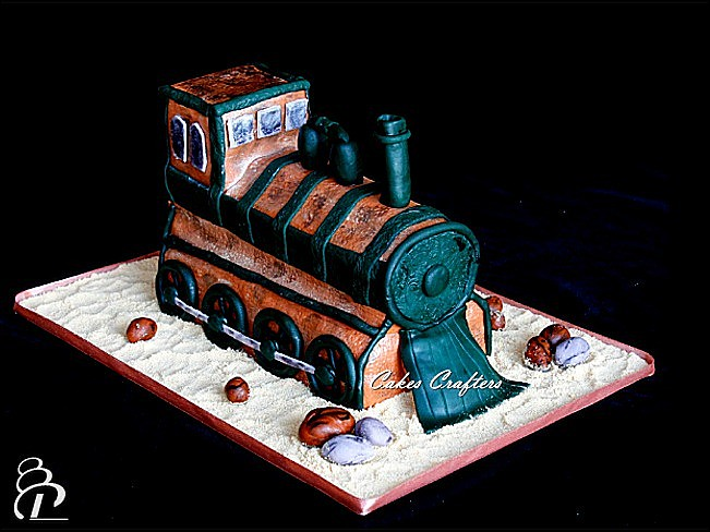 Old Train Cake