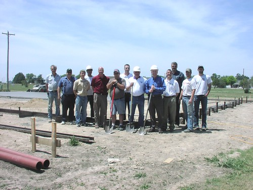 Earlier this month, the City of Quinter, Kansas, celebrated the groundbreaking of a new fire station with city employees, members of the volunteer fire department, USDA Rural Development staff, and representatives from Midwest Energy and Quinter Manufacturing & Construction (QMC). This photo was taken by a USDA employee.