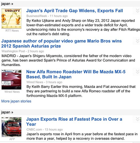 Schizoid Japanese economic news