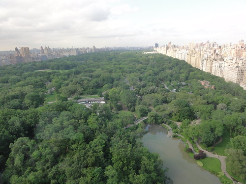 View from hotel room over Central Park