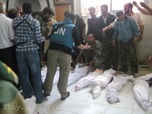 Houla Massacre - brought to you by Bashar Assad & his mob, supported by U.S. / UN / EU / Russia / China / Iran / Shit / Hezbollah of Satan Nasrallah
