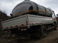 trailer truck(0.0), trailer(0.0), rolling stock(0.0), commercial vehicle(1.0), vehicle(1.0), truck(1.0), transport(1.0), land vehicle(1.0),