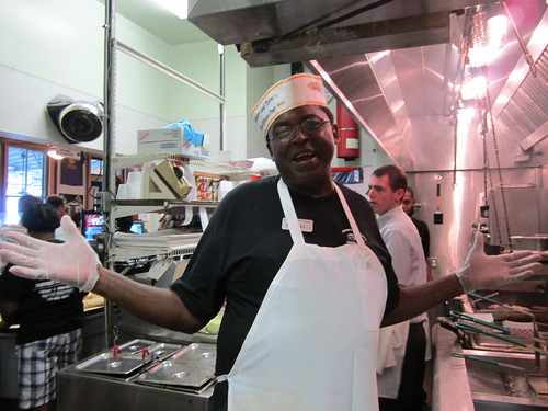 Mister Ford: deep frier extraordinaire! He told us everyone in the Parkway kitchen is a