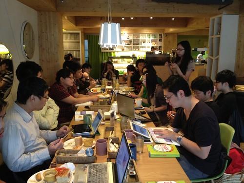在Café Vitus舉辦的讀書會