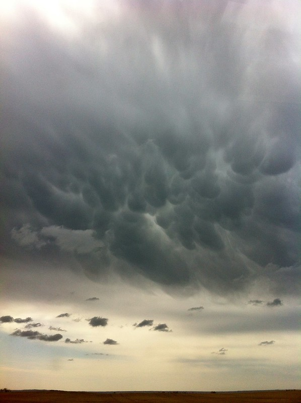 Scary Bubbling Clouds in North Dakota
