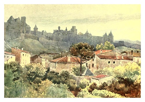005-Carcasonne-Sketches on the old road through France to Florence-1905- Alexander Henry Hallam Murray
