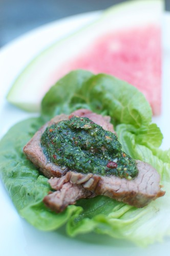 Grilled Skirt Steak With Vietnamese 'chimichurri'
