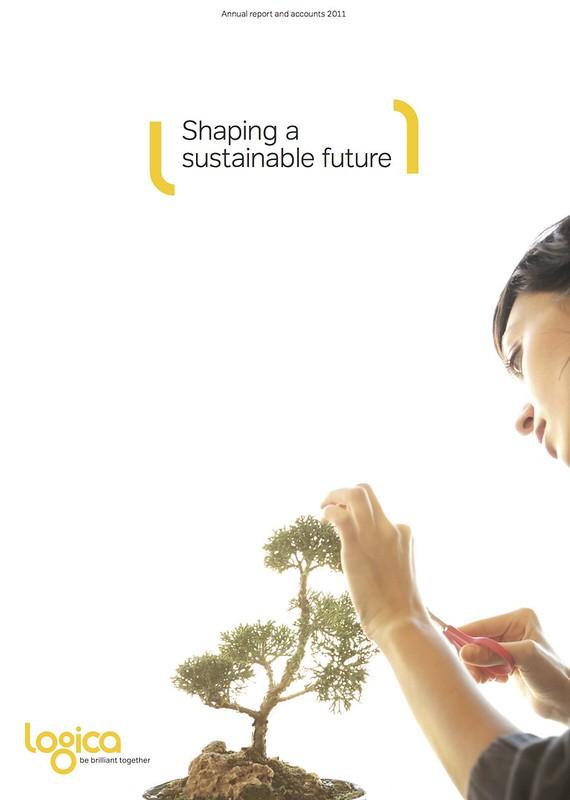 Logica's Annual Report cover