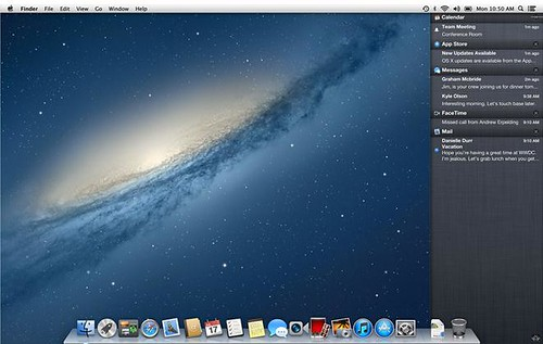 Mountain Lion notificationcenter