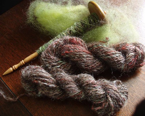 wee skeins + spindle