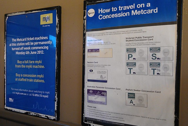 Myki-only now, but still Metcard signage displayed