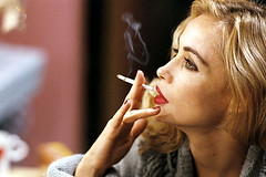 Emmanuelle Beart Smoking Cigarettes