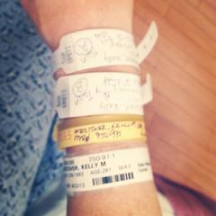 Bracelets, bracelets, bracelets. #preemie #twins