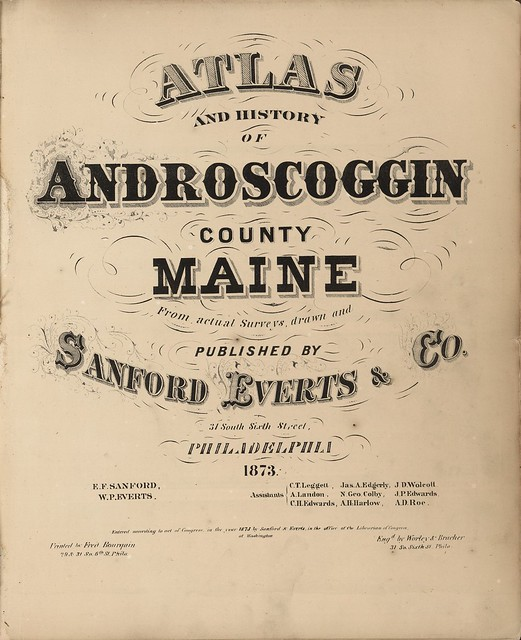 title page typography