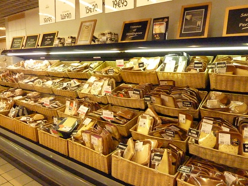 Partial cheese selection