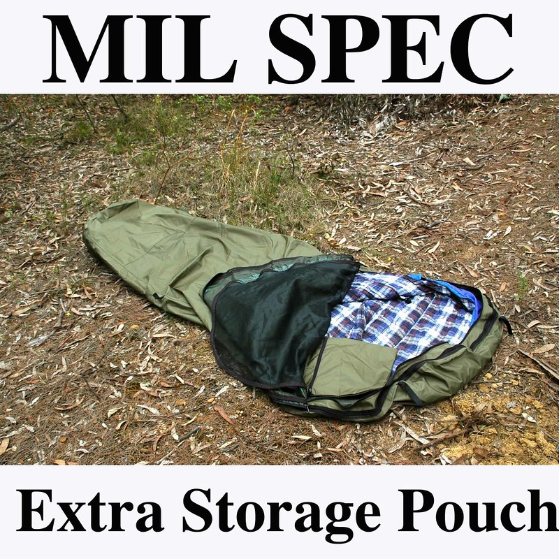 Army-Green-Mil-spec-Bivvy-Bivvi-Bivi-Bag-4-Sleeping-Cover-Swag-Tent-bivouac-NEW