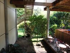 courtyard, backyard, outdoor structure, garden, property, pergola, yard, house, estate, home,