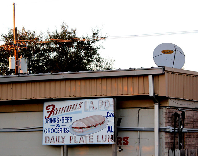 Famous Louisiana Po-Boys Sign