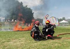 pompiers et motards en aquitaine