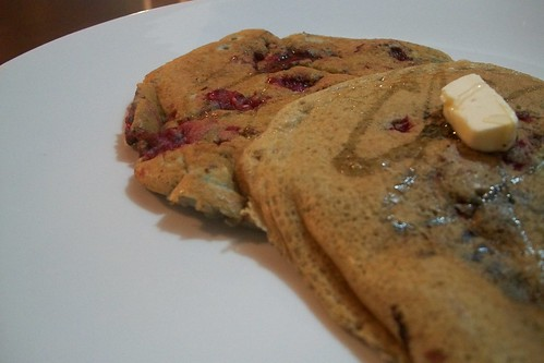 Hot Cakes de arándanos y nuez