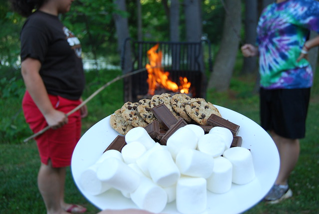 S'moring at Claytor Lake State Park outside cabin 13
