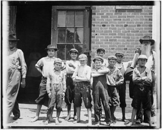 Some of the youngsters in the Belton Mfg. Co. Two of the youngest, May 1912
