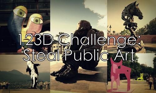 123D challenge: steal public art