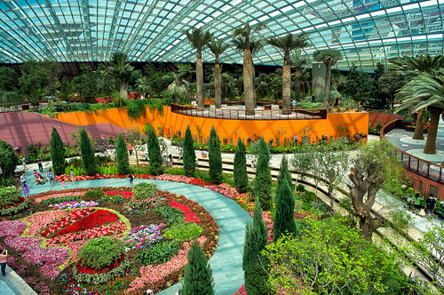 a stunning view of the flower dome at gardens by the bay - Garden By The Bay Flower