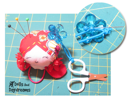 scissors pin cushion