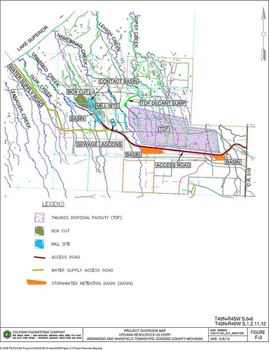 Map of proposed Copperwood Project