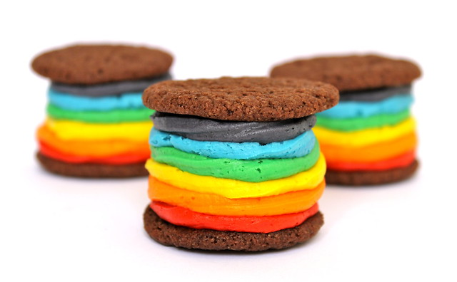 Rainbow Oreos, vegan or not