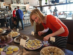 Heather prepping the Whoopies