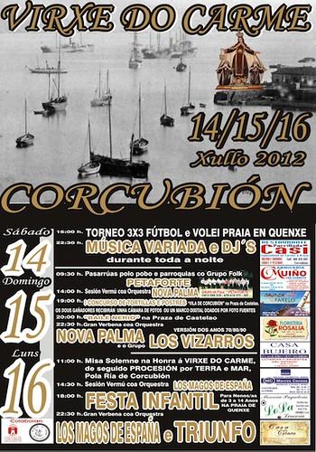Corcubión 2012 - Festas do Carme - cartel