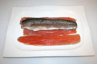 10 - Zutat Forellenfilet / Ingredient trout fillet