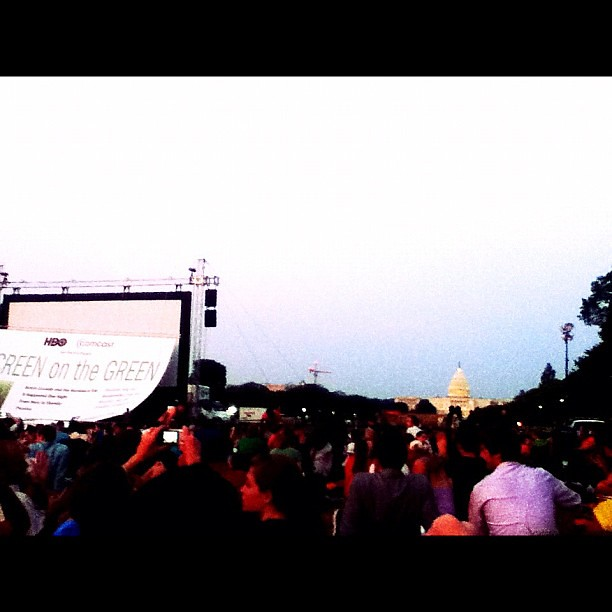 #hboscreenonthegreen one more reason to love D.C.