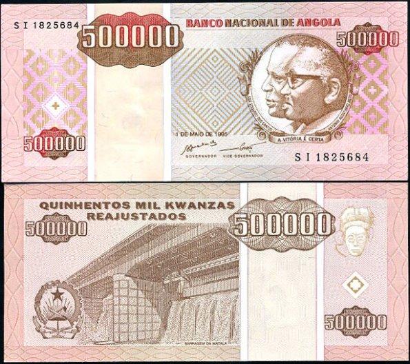 500 000 Kwanzas Reajustados Angola 1995, Pick 140