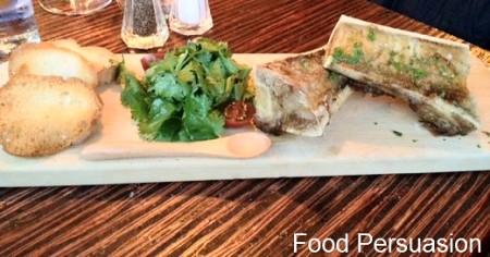 pork belly with salad