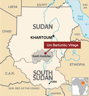 Map of Um Bartumbu Village, South Kordofan, Sudan