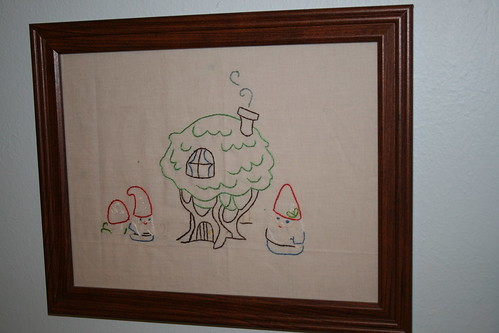 Gnome Home Embroidery