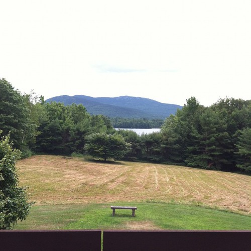 Dublin Lake & Mt. Monadnock from my aunt's balcony