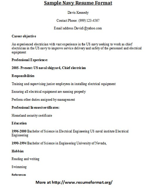 sle navy resume format flickr photo
