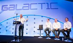 Sir Richard Branson, George Whitesides, Stephen Attenborough and Steve Isakowitz. Photo by Mark Chivers