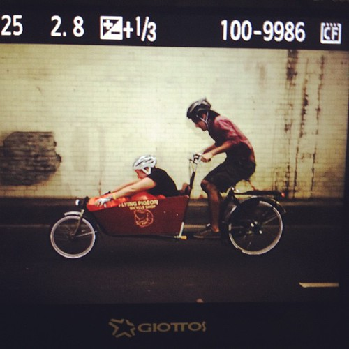 Bakfiets race during Wolfpack Hustle Drag Race 2012