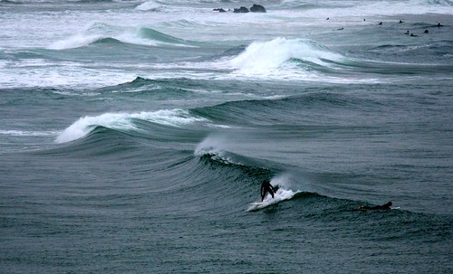 surfer sur la vague