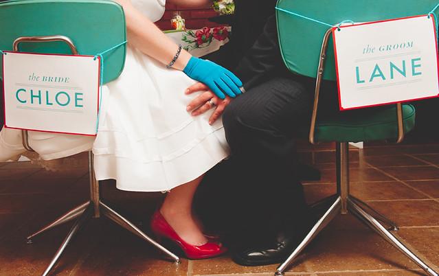 retro wedding signs