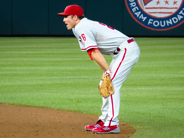 Chase Utley - Phillies vs Nats 8.2.12 from Flickr via Wylio
