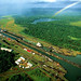 Panama Canal - Gatun Locks from Air (Postcard)